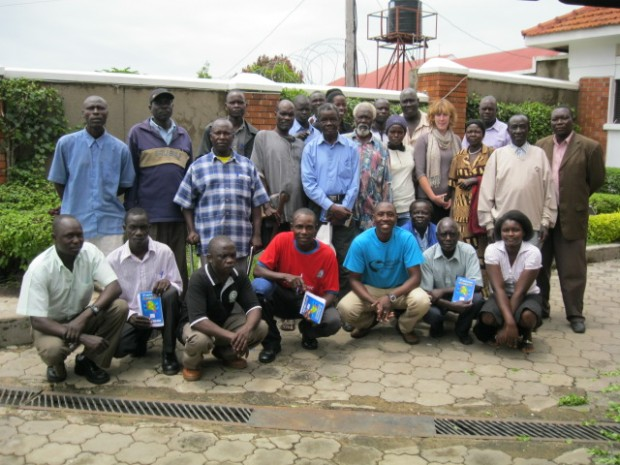 Victims of the conflict in West Nile with JRP after a workshop in October 2010