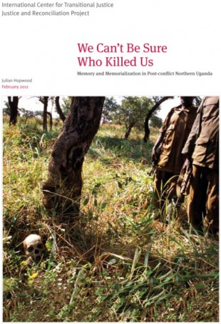Front cover of JRP's latest report with ICTJ on memory and memorialization