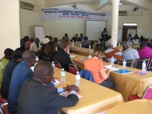 Participants during the workshop on accountability and reconciliation in Kampala