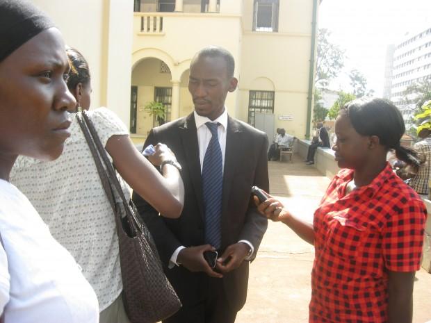 Julius Alisonga lawyer of Kwoyelo speaks after ruling