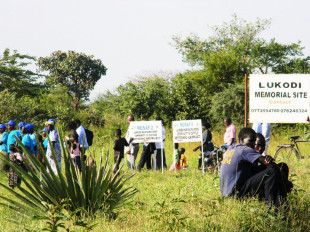 Lukodi village, the site of a 2004 massacre by the LRA for which Dominic Ongwen is accused of leading.