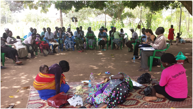 SGBV responsiveness training with Amandrea Women's Group in Adjumani in September 2014
