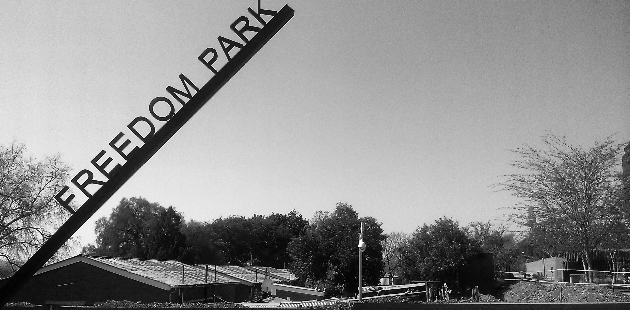 The sign from freedom park south africa