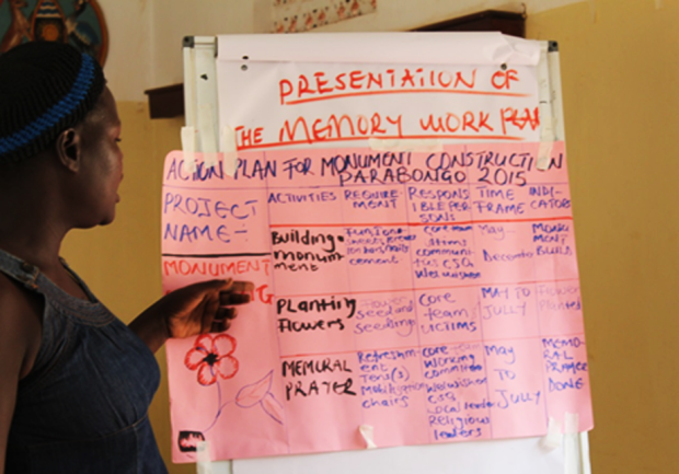 A capacity building workshop is held in Parabongo earlier this year.