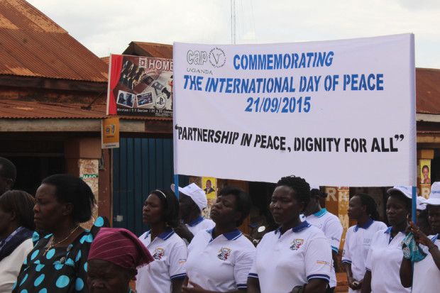 Gulu commemorates International Peace Day on 21 September 2015.
